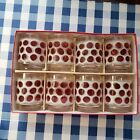 Mid Century Cranberry Concord Glasses By Libby Hostess  Set of 8~5 1/2oz.  Glass