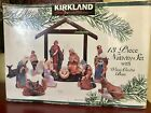 Kirkland Signature 13 Piece Nativity Set with Wood Creche Base