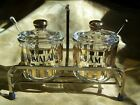 RARE Jeannette Jam Marmalade Complete 7 pc set Glass Brass Free Shipping!