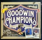 2012 UPPER DECK GOODWIN CHAMPIONS FACTORY SEALED HOBBY BOX
