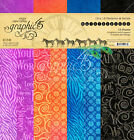 Graphic45 KALEIDOSCOPE Pattern Solid 12x12 PAPER PAD scrapbooking 16 Sheets