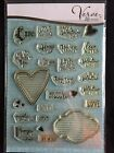 Verve Stamps LOVE NOTES Photopolymer Stamp Set 26 NLA MADE IN USA 6 x 8 set