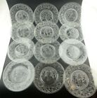 Sandwich Pressed Glass Month of Year Calendar Complete Set of 12! Vintage Clear