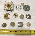 Lot of 12 Vintage Watch Clock Faces Parts Assorted Sizes