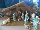 St Nicholas Square Village Nativity Scene 10 Pc Set Porcelain