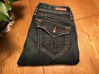WOMENS SUPER NICE ROCK REVIVAL VINTAGE BOOTCUT JEANS SIZE 30 X 315 VERY NICE
