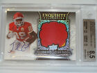 Jamaal Charles 2008 Exquisite SILVER Auto # 75 Patch Jersey BGS 8.5 10