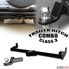 Class 3 III Trailer Hitch Tube+2 Ball Towing Mount Kit Fit V2 97 06 Wrangler TJ