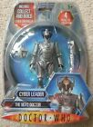 DOCTOR WHO CYBERMAN Action Figure THE NEXT DOCTOR CYBER LEADER Sealed MIB Set