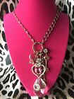 Betsey Johnson Dollhouse Engagement Ring Love Birds Heart Valentine Necklace
