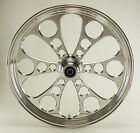 Kool Kat Polished CNC 26 x 35 Single Disc Front Wheel for Harley