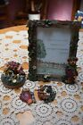 3 Boyds Bears & Friends Resin Strawberry Frame 4X6  Beary Magnet Candle Topper