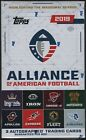 2019 Topps Alliance of American Football Factory Sealed Hobby Box w 3 Autograph