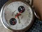 Vintage Paul Peugeot Chronograph w/Silver Dial,Beautifully Cut Diver All SS Case