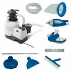 Intex 2100 GPH Above Ground Pool Sand Filter Pump w Deluxe Pool Maintenance Kit