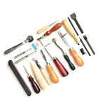 18pcs DIY Leather Craft Punch Tool Leathercraft Embossing Leather Work Tool