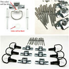 10 Sets Motorcycle 17mm Quick Release D-RING 1/4 Turn Race Fairing Fasteners Hot