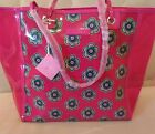Vera Bradley Clearly Colorful Tote Shoulder Bag in Pink Swirls Flowers NWT