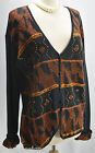 N8tive Nits Native Sande  Jo bead sweater Cardigan knit top Metallic SZ M L VTG
