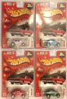 HOT WHEELS 2004 HOLIDAY RODS VW BEETLE COMPLETE SET OF 4 COLORS MOMC REAL RIDERS