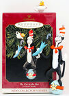 1999 THE CAT IN THE HAT Dr Seuss Books NEW Hallmark #1 Ornament FISH SET of 2
