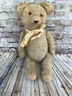 Antique 19 Jointed Teddy Bear With Glass Eyes AB