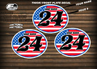 vintage motocross number plates Sticker Ovals Your name # FULLFLAG USA