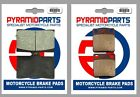 Sachs X Road 125 2007 Full Set Front & Rear Brake Pads (2 Pairs)