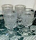 Vintage Anchor Hocking Crystal Wexford Footed Glass Tumblers Set of 4, 1960's