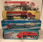 LOT OF 3 TAYLOR TRUCKS 1:32 SCALE AMOCO TOY TANKER/ CAR CARRIER/ TANKER TRUCK