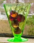 Doz Stunning Solid Art Glass Individual Cherries Embedded Copper Stems