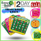 Ess Travel Bingo Family Vacations Car Rides Road Trips Backseat Adults 4 Pack