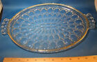 Jeannette Glass Clear Oval Vanity Tray 13