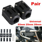 2x Motorcycle Engine Guard Protector Bumper Guard Blocks Slider 22/25/28mm Black