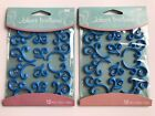 Jolees Baby Blue Flourishes Scrapbooking Stickers Lot Prince Frames Crafts
