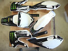Kawasaki KLX 110  02-09 Graphic Kit w/ Plastics Kx 65 02-17 White