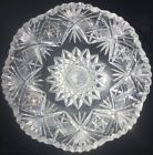 Americans Brilliant Period Cut Glass Thick Large Heavy Center Geometric Cut Bowl
