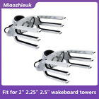 1 Pair Silver Combo Tower Rack Fit 2 225 25 Tube Wakeboard Holder WA 1