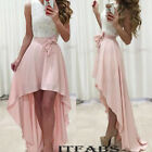 Women Long Lace Evening Cocktail  Formal Ball Gown Prom Bridesmaid Maxi Dress