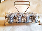 Mid Century Shot Glass Set 0f 8 With Caddy