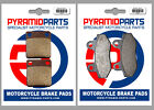 CCM C-XR 125 S 08-09 Full Set Front & Rear Brake Pads (2 Pairs)