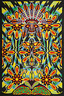 COSMIC NATIVE WARRIOR 100 COTTON Psychedelic TAPESTRY 60X90 Hanging LOOPS Indian
