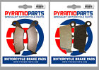 Gas Gas Trail Halley 125cc 2009 Full Set Front & Rear Brake Pads (2 Pairs)