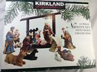 Kirkland 13 Piece Porcelain Nativity Set Used Complete