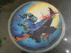 Retired Peggy Karr Halloween Witch On Broomstick Plate 11 1 4