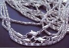 Lot of 20 20 2MM Silver Plated Chains