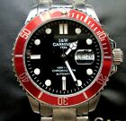 Carnival 1986 SRP215 Homage, Red Bezel Magnified Day Date Open back automatic