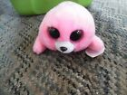Ty  beanie boos Pierre pink seal plush animal
