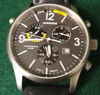 Junkers G-38 Chronograph Titanium Watch with Alarm Function #6296-5 w/ 2 bands