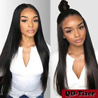 Long Black Synthetic Lace Front Wig Heat Resistant Soft Hair Fashion Black Women
